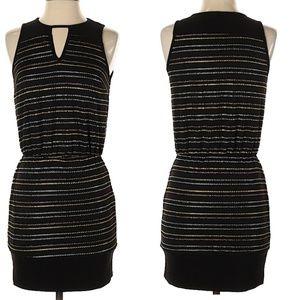 Greylin black and metallic threads party dress